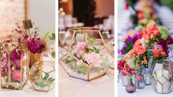 Le terrarium: la touche moderne et élégante de votre décoration de mariage