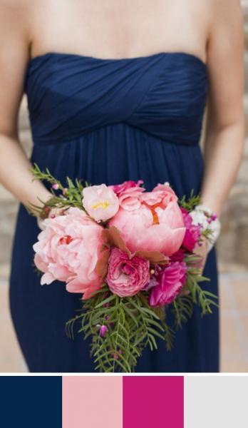 """Originalité, élégance et raffinement: votre mariage en bleu """"Navy Peony""""!"""