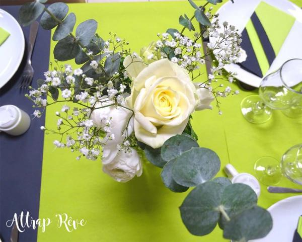 Anniversaire en gris et vert 1