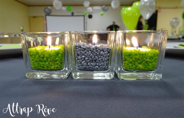 Anniversaire en gris et vert 14