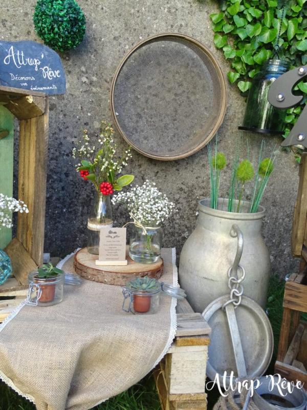 Mariage champêtre: louez votre décoration! 1