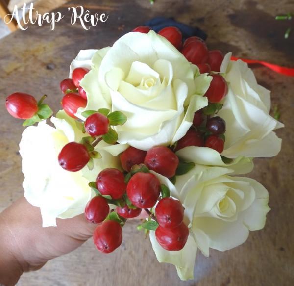 Une déco florale pour un mariage en rouge et blanc 1
