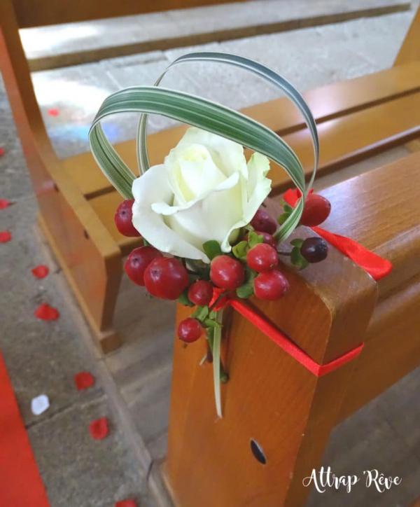 Une déco florale pour un mariage en rouge et blanc 3