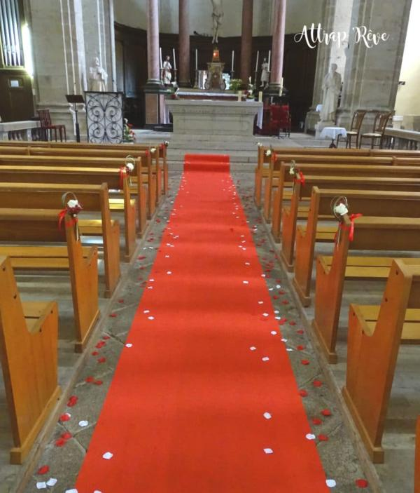 Une déco florale pour un mariage en rouge et blanc 4