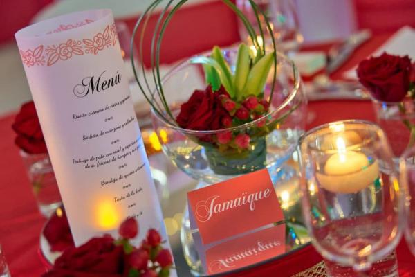 So romantic! Le mariage de C&K en rouge et blanc... 5