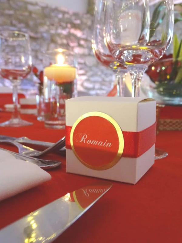 So romantic! Le mariage de C&K en rouge et blanc... 1