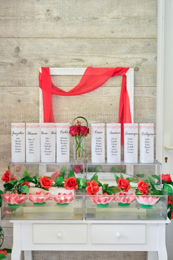 So romantic! Le mariage de C&K en rouge et blanc... 11