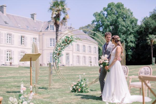 Mon mariage nature-chic dans un chateau en Bretagne - My wedding in a Breton castle...like a touch of south in Brittany 1