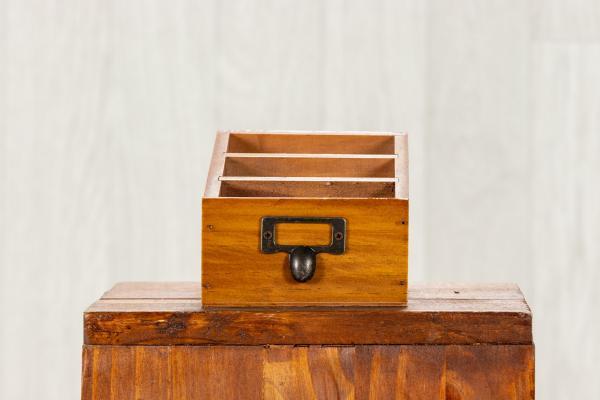 Boite rétro postale en bois 1