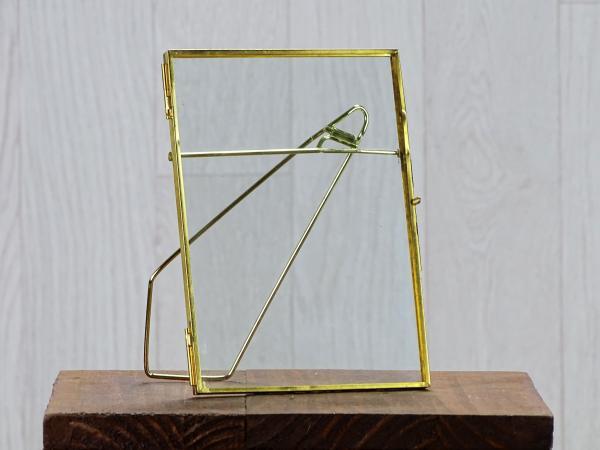Cadre en verre liserai doré taille L 1
