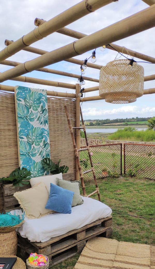 échelle en bambou