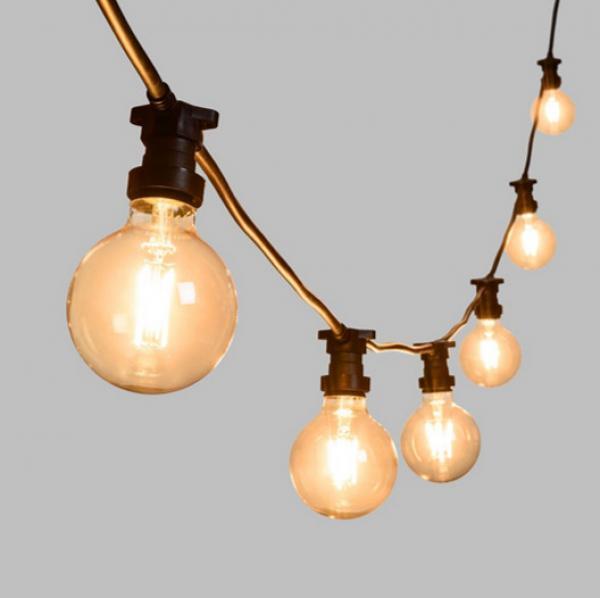 Guirlande guinguette grosses ampoules verre 1