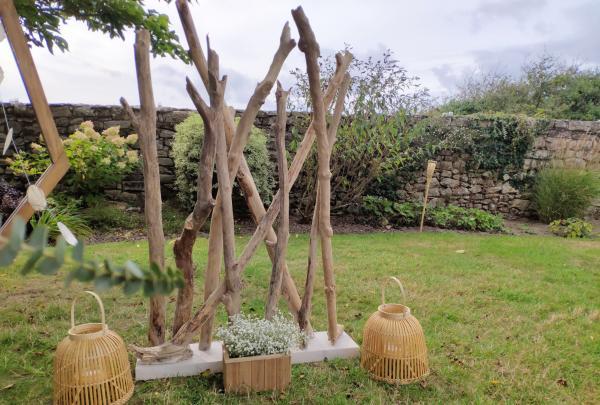 Jardinière en bois rectangle 2