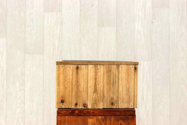Jardinière en bois rectangle 1
