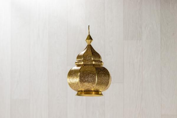 Petites lanternes en métal Or 1