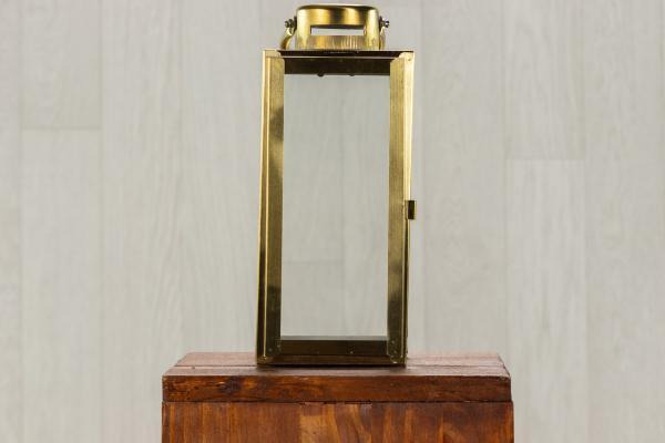 Lanterne en verre et métal doré