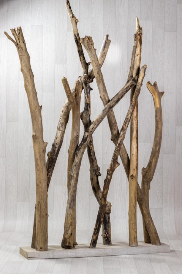 Lot de 3 paravents en bois flotté 1
