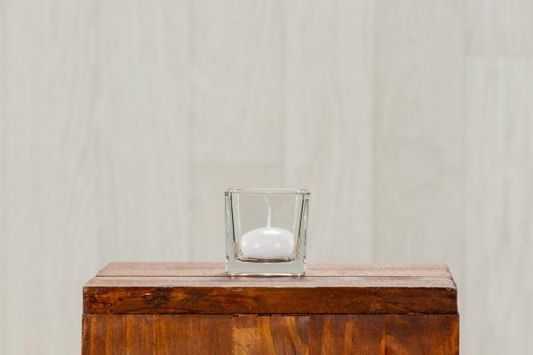 Photophore en verre carré