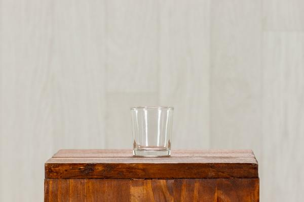 Photophore votive en verre transparent 1