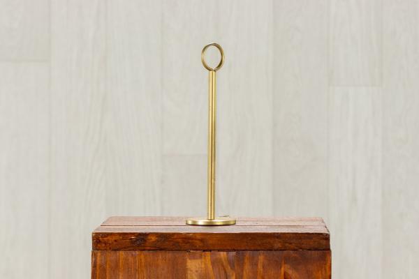Porte nom/numéro de table en métal doré 1