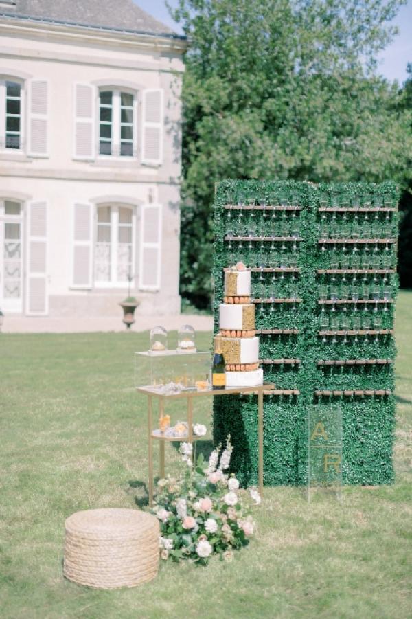 Mur à champagne cocktail 1