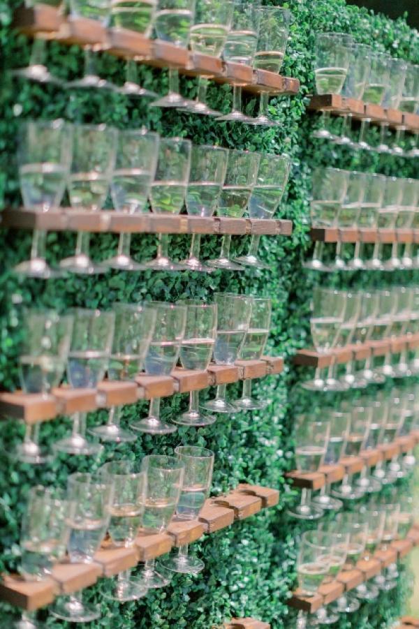 Mur à champagne cocktail