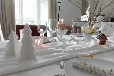 Noël : décor enneigé