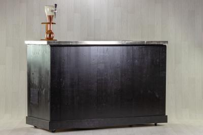 Bar Noir Inox avec tireuse à bière ou cidre