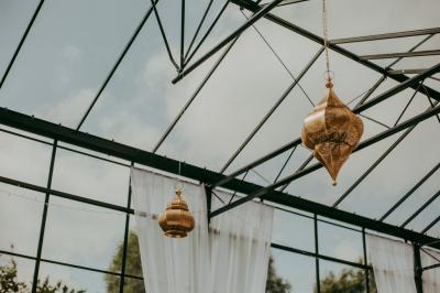Petites lanternes en métal Or