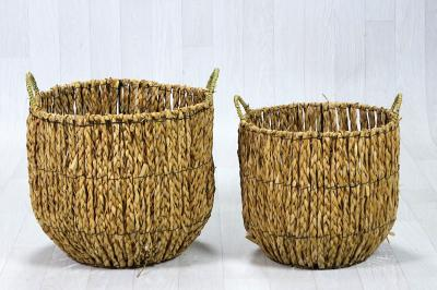 Lot de 2 paniers fibres naturelles