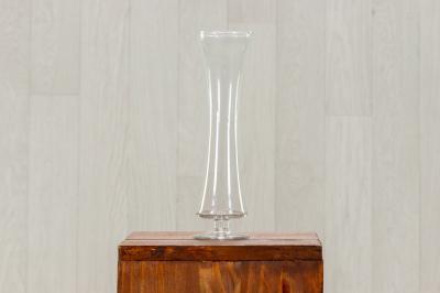 Vase en verre sur pied
