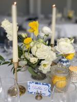 Coupe argentée pour compositions florales