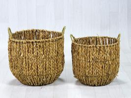 Lot de 2 paniers fibres naturelles