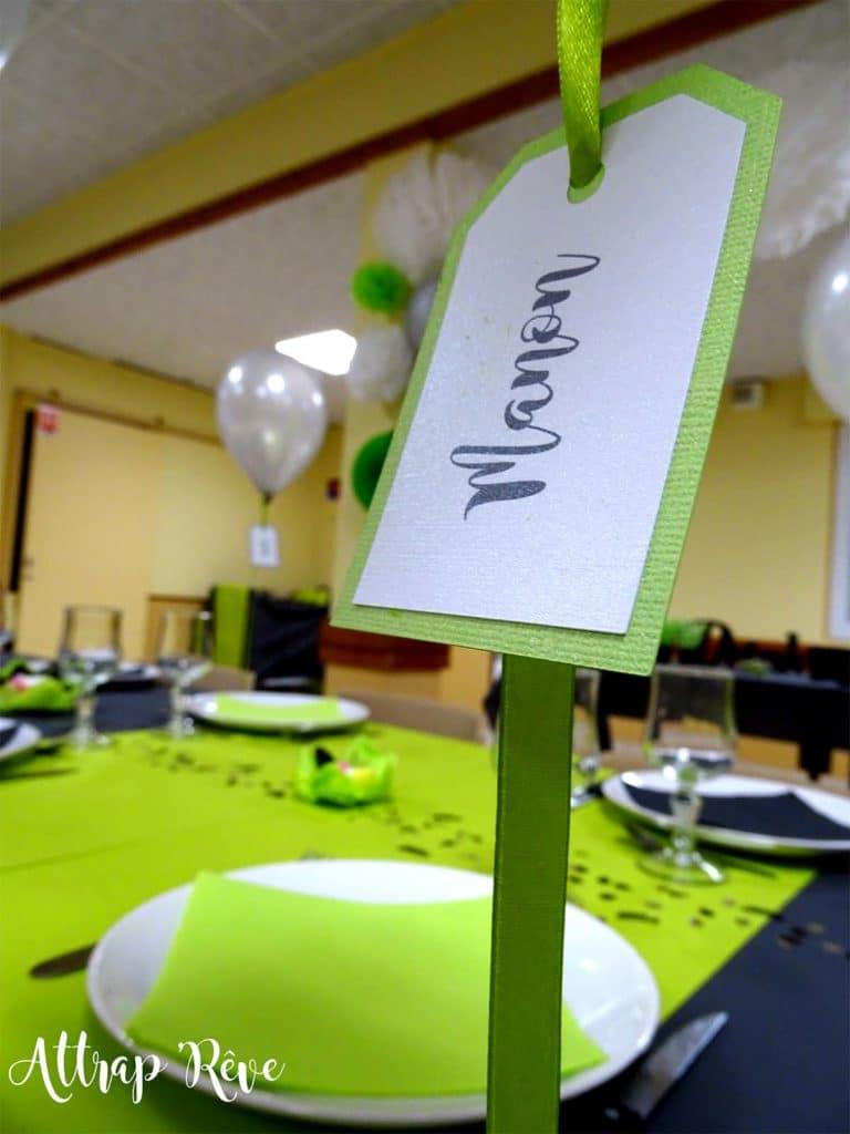 Anniversaire décoration placement de table