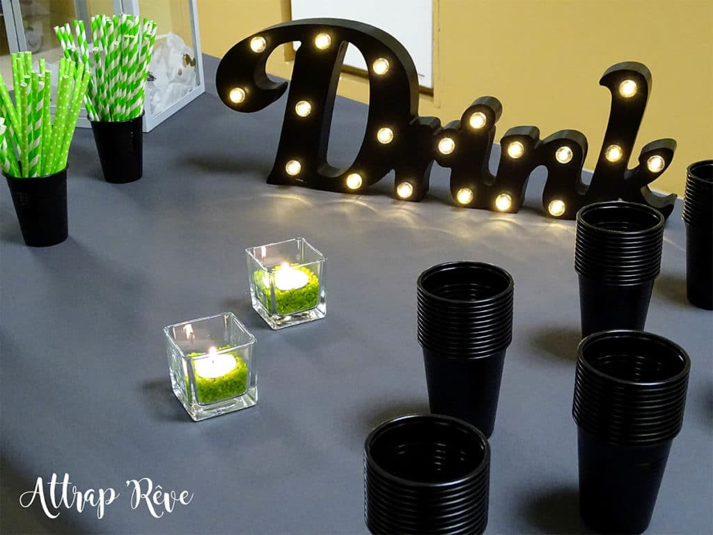 Anniversaire décoration lumières