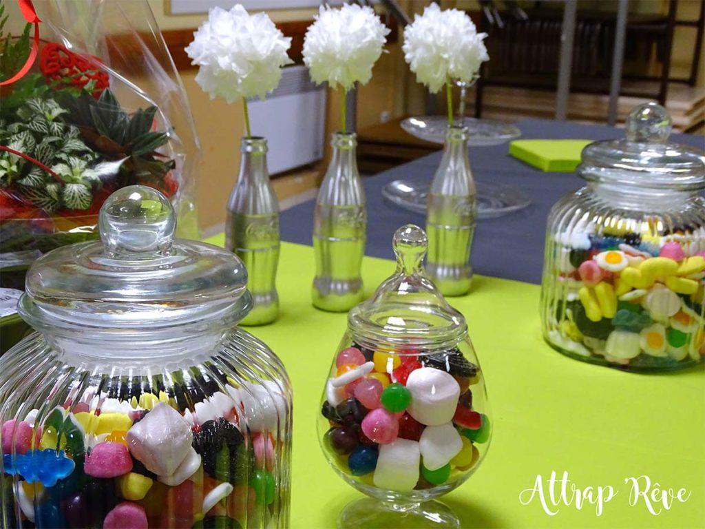 Anniversaire décoration bombonnières