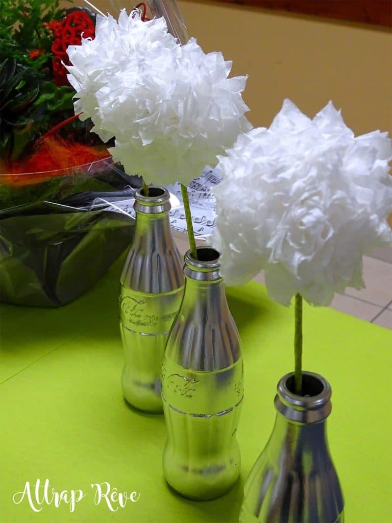 Anniversaire décoration vase