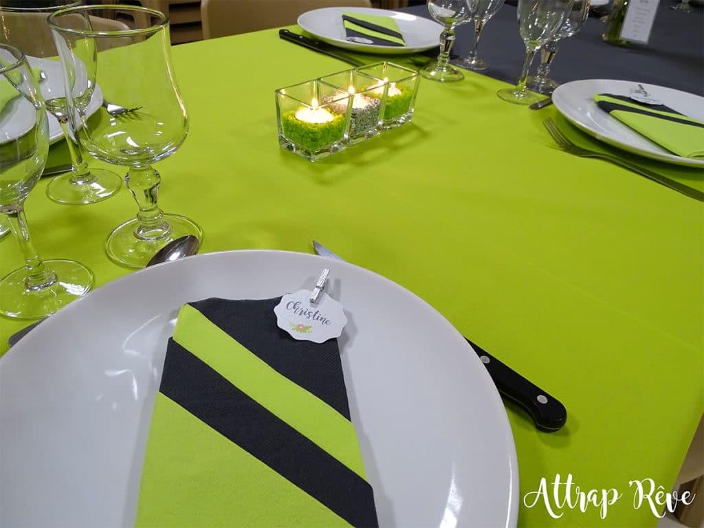 Anniversaire décoration plan de table