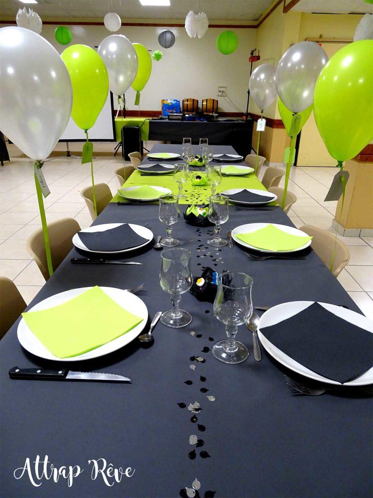 Anniversaire décoration table