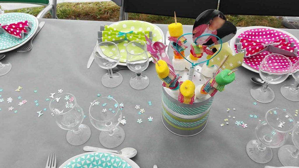 Anniversaire enfant table detail