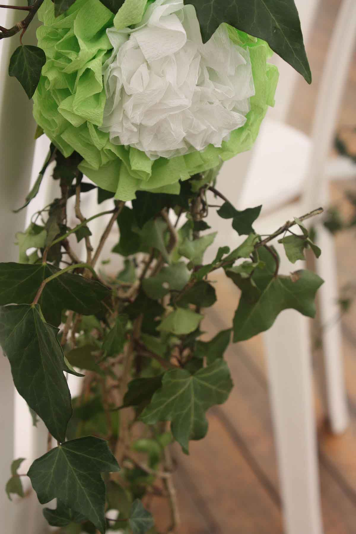 Mariage fleurs blanches
