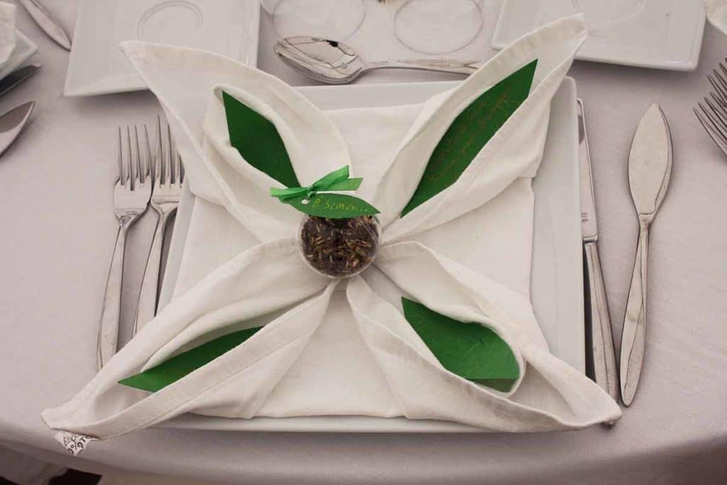 Mariage décoration serviette champêtre
