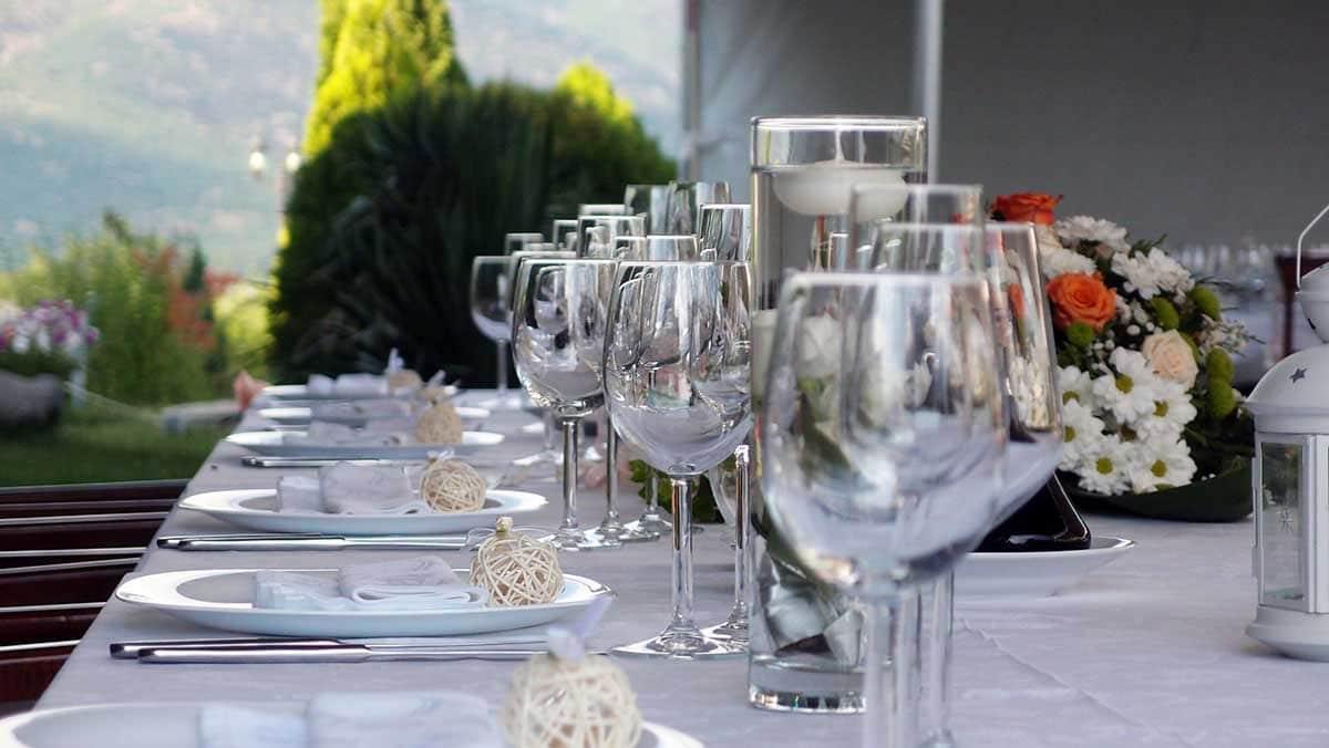 Mariage table champêtre