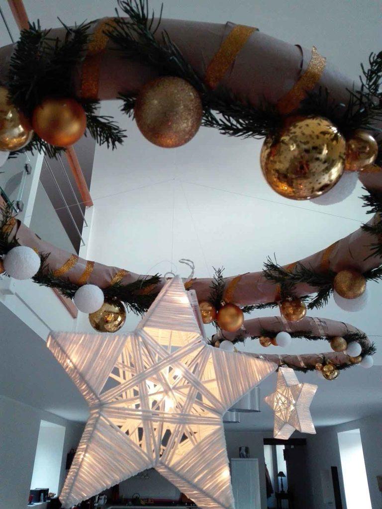 Noël décoration étoile plafonnier