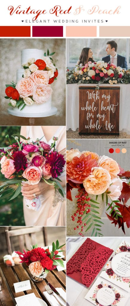 vintage-red-and-blush-wedding-colors-for-2018-trends1