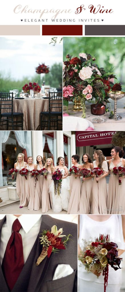 wine-red-and-dark-grey-wedding-color-combo-ideas-for-2018